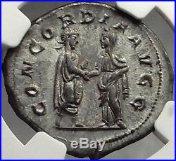 TRANQUILLINA, 241AD Authentic Ancient Roman Coin NGC AU, 5/5, 4/5 Extremely Rare