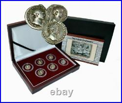 The Good Emperors of Ancient Rome Box of 6 Silver Roman Coins