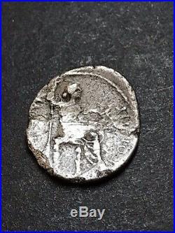 Tiberius Tribute Penny Silver Denarius. Ancient Roman Imperial Coin