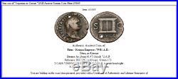 Titus son of Vespasian as Caesar 72AD Ancient Roman Coin Altar i35665