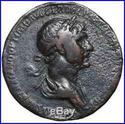Traiano Asse in bronzo monete antiche romane impero Trajan ancient roman coins