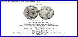 Trajan 101AD Silver Ancient Roman Coin Felicitas Good luck or Pax RARE i51182