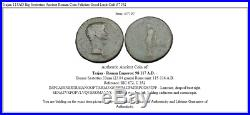 Trajan 115AD Big Sestertius Ancient Roman Coin Felicitas Good Luck Cult i37192