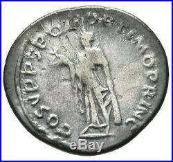 Trajan AD. 98-117 Ancient Roman Empire, Exquisite Denarius Silver Coin