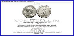Trajan Ancient Silver Roman Coin Pietas Loyalty Devotion Religiosity i53352