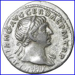 Trajan Ar Denarius old ancient roman silver coin Rome Empire Imperial