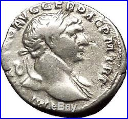 Trajan Authentic Ancient Silver Roman Coin Aequitas Justice Equality i53293