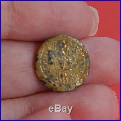 Tremissis ZENO Gold Filled Ancient Roman Coin Fouree 2079H