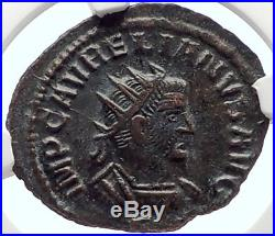 VABALATHUS & Aurelian 271AD Antioch RARE Authentic Ancient Roman Coin NGC i70166