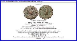 VALENS 367AD Rome R. QVARTA Very rare Ancient Roman Coin Victory Nike i29282