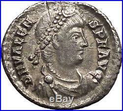 VALENS 375AD Authentic Ancient Silver SILIQUA Roman Coin Trier Roma i53407