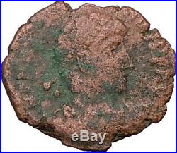 VALENTINIAN I w labarum Two Crosses Very Rare 375AD Ancient Roman Coin i20464