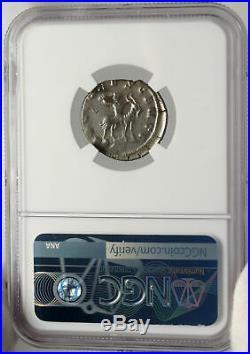 VALERIAN II as Caesar Authentic Ancient Billon Silver Roman Coin GOAT NGC i83560