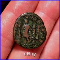 VERY RARE Ancient Roman Coin AE As DIADUMENIAN 217-218AD STANDARDS RIC212 8.17g