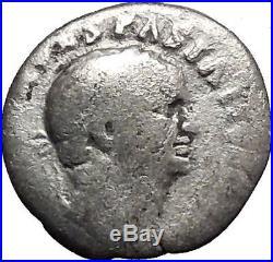 VESPASIAN 69AD JUDAEA CAPTA Jewish War Victory Silver Ancient Roman Coin i44554