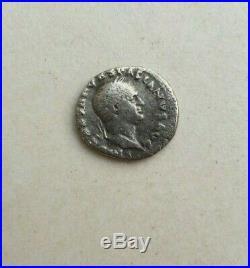 VESPASIAN 69AD Jewish War Victory JUDAEA CAPTA Silver Ancient Roman Coin
