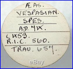 VESPASIAN 74AD Ex Trau Collection Pedigree Authentic Ancient Roman Coin NGC AU