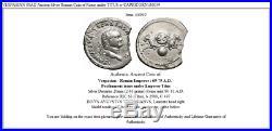 VESPASIAN 80AD Ancient Silver Roman Coin of Rome under TITUS w CAPRICORN i56039