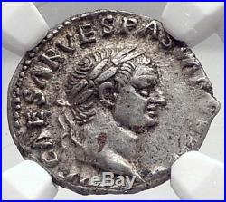 VESPASIAN Authentic Ancient 70AD Rome Silver Roman Coin NGC Certified i72920