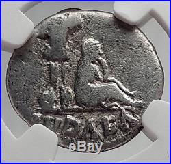 VESPASIAN Jewish War Victory JUDAEA CAPTA Silver Ancient Roman Coin NGC i61912