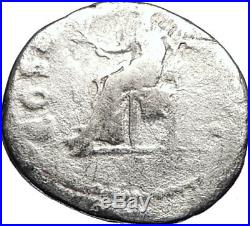 VESPASIAN Original 70AD Rome Authentic Ancient Silver Roman Coin PAX i69457