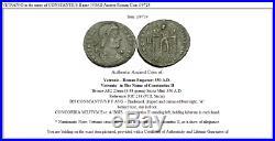 VETRANIO in the name of CONSTANTIUS II rare 350AD Ancient Roman Coin i39724