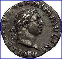 VITELLIUS 69AD NGC Certified Ch XF Authentic Ancient Silver Roman Coin Raven