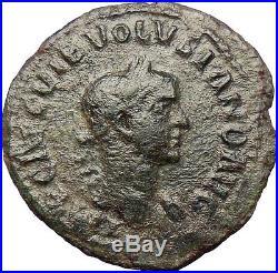 VOLUSIAN Roman Caesar251AD Ancient Roman Coin VIMINACIUM Legion Bull Lion i28868
