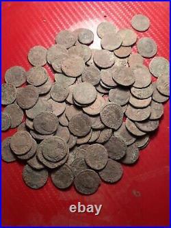 Very good lott of 100 uncleaned Roman coins in found condision