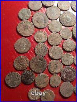 Very good lott of 50 uncleaned Roman coins