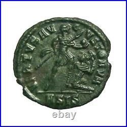 Vetranio AE3 Bronze 350AD Rare Ancient Roman Coin from Siscia