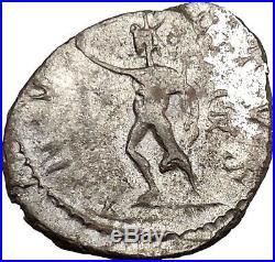 Victorinus 269AD Very rare Silvered Ancient Roman Coin Sol Sun God Cult i39012