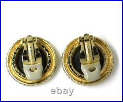 Vintage CINER New York Gold Tone Roman Ancient Coin Clip VERY RARE Earrings