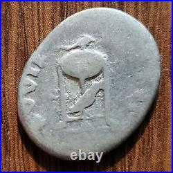 Vitellius AR Denarius 69 AD Ancient Roman Coin