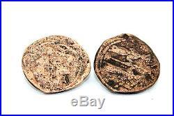 Vtg CUSTOM Modernist Sterling Silver Cufflinks w. Ancient Roman Byzantine Coins