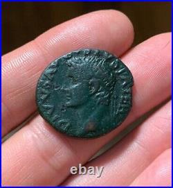 WOW! AUGUSTUS Ancient Roman Coin As Under TIBERIUS 34-7AD EAGLE GLOBE RIC82 9.6g