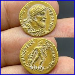 Wonderful Unresearched Ancient Roman King Solid 22k Gold Coin 4.1gr
