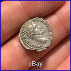 XF! ANTONINUS PIUS Ancient Roman Coin AR Denarius 140-143AD GENIUS RIC70a 3.51g